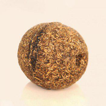 Pets Cat Toy Funny Play  Chew Treat Holder Catnip Ball Toy Catmint Ball - BROWN