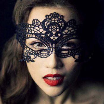 2018 New Women Sexy Ball Lace mask unshaped mask sexy dance party queen mask -  BLACK
