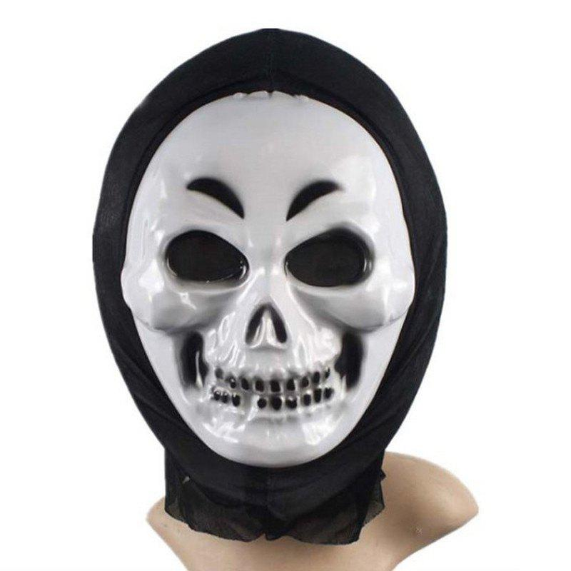 PVC Realistic Scary Horror Mask Halloween Death Ghost Witch Grimace Scream Masks Party Mask Cosplay Costume Prop - WHITE