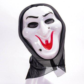 Mask Halloween Funny Full Face PVC Realistic Scary Horror - WHITE