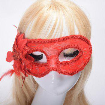 Fashion Sexy Mask Venetian Ball Masquerade Masks Festive Party Supplies - RED RED