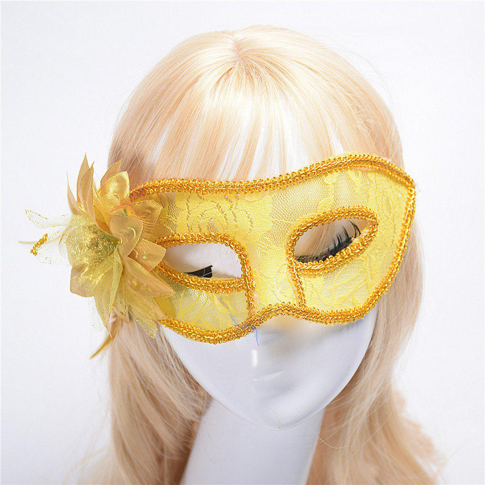 Fashion Sexy Mask Venetian Ball Masquerade Masks Festive Party Supplies - YELLOW