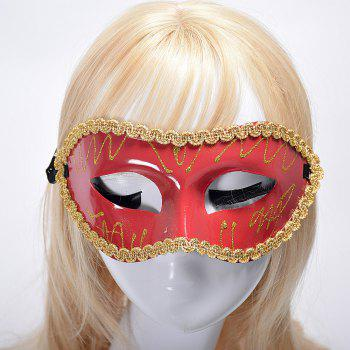 Halloween Party Masquerade Half Face Flat Picture - RED RED