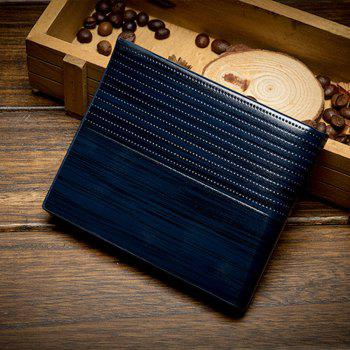 Men'S Short Section Multi-Card Holder Wallet Card - BLUE BLUE