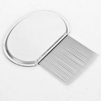 wyspring Professional Stainless Steel Comb for Safe Lice Treatment - SILVER
