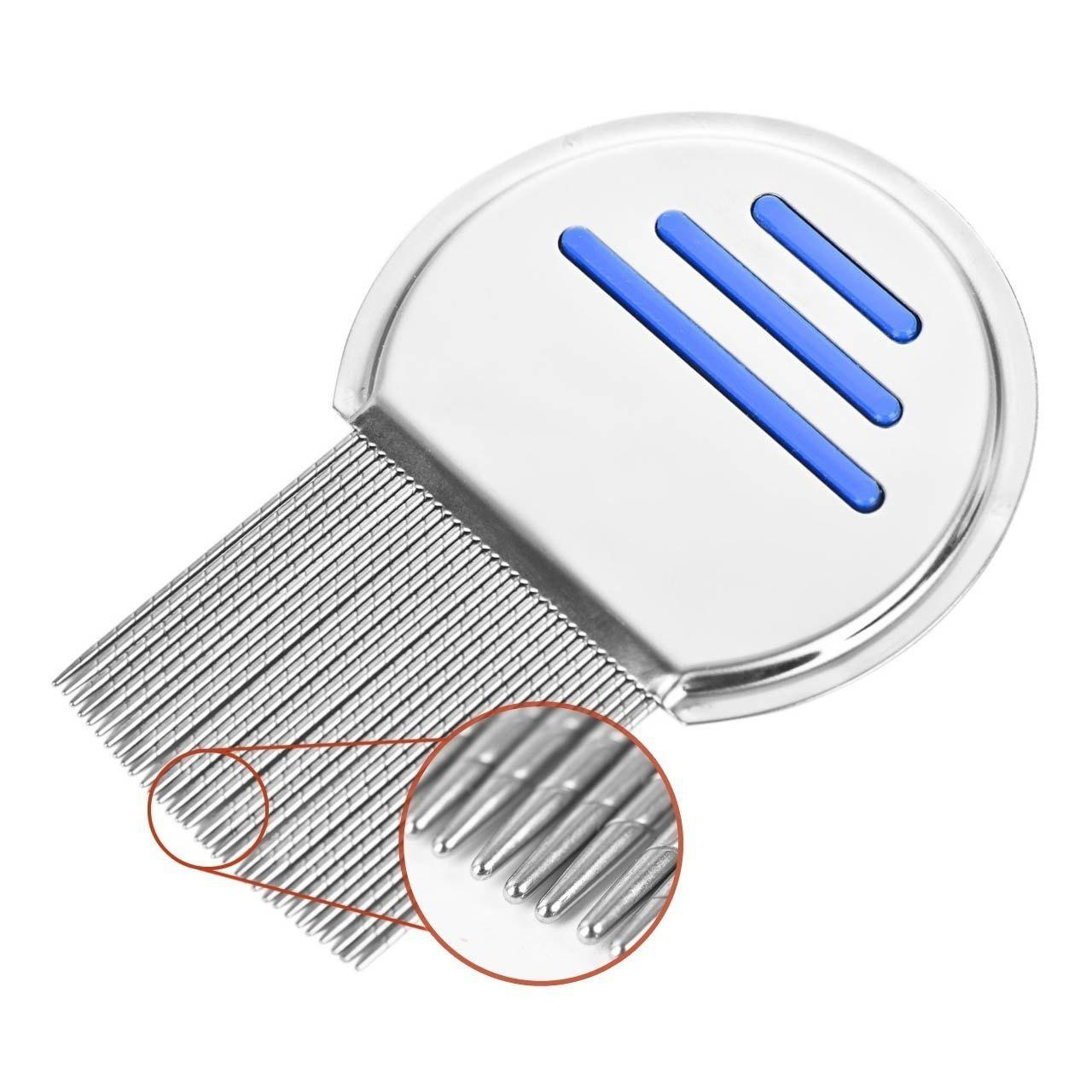 wyspring Professional Stainless Steel Comb for Safe Lice Treatment - BLUE