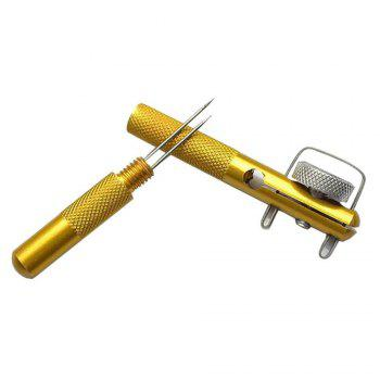 New All-Metal Fish Hook Knotting Tool and Tie Ring Making Solution Accessories - GOLDEN
