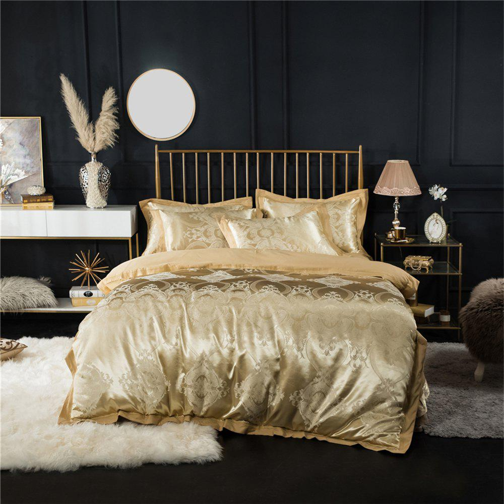 2018 New Bedding Sets Full Queen Size Cotton Satin Jacquard Duvet Cover Set MTL-J - GOLDEN QUEEN