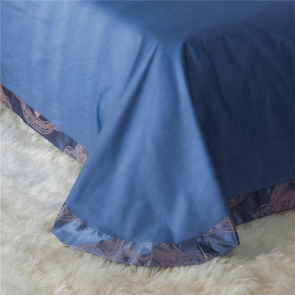 2018 New Bedding sets full queen size cotton satin jacquard duvet cover set OLM - BLUE FULL