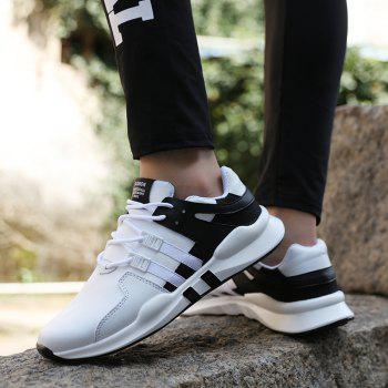 Popular Male Money Sports Leisure Shock Absorption and Antiskid Jogging Shoes - BLACK WHITE 43