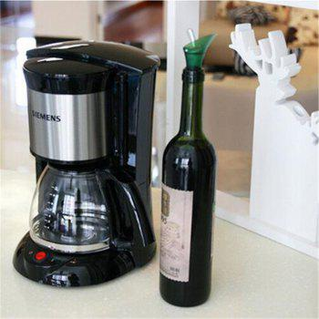 Red Wine Plug Cap Bottle Pour Shutoff Silicone Seal Stopper - DARK GREEN