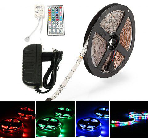 ZDM Waterproof 5M 2835RGB LED Light Strip and IR44 Controller 12V/2A Power Supply AC100-240V - RGB