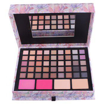 Miss ROSE 7002-016N/Y Long-Lasting Eye Shadow Make-Up Box - PINK