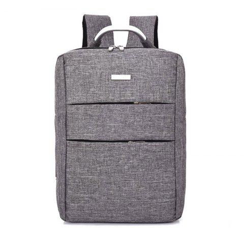 Men's Large Capacity Casual Computer Travel Backpack Multi-pocket Men's Business Bag - GRAY