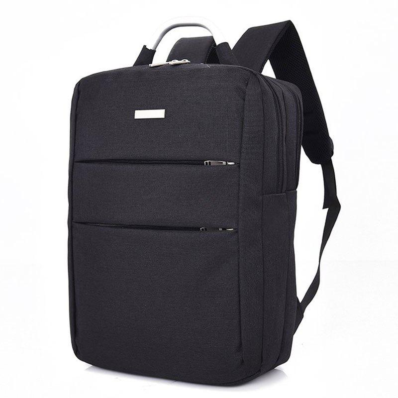Men's Large Capacity Casual Computer Travel Backpack Multi-pocket Men's Business Bag - BLACK