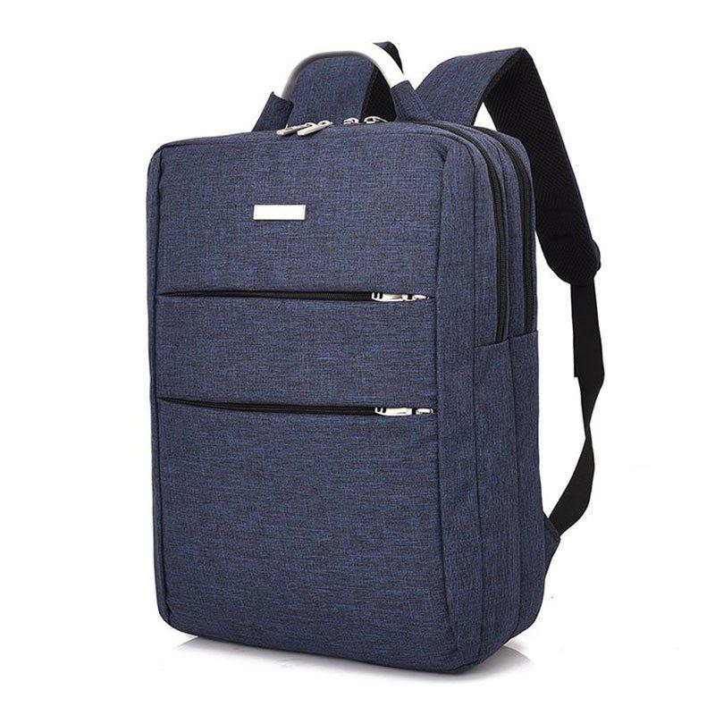 Men's Large Capacity Casual Computer Travel Backpack Multi-pocket Men's Business Bag - BLUE