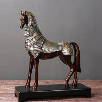 Rural Creative Crafts Imitation Bronze Horse Ornaments - BRONZED