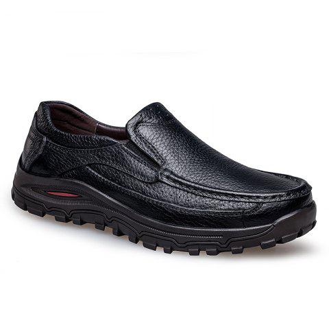 2018 New Outdoor Leather Shoes - BLACK 46