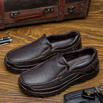 2018 New Outdoor Leather Shoes - BROWN 42