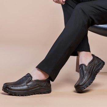 2018 New Outdoor Leather Shoes - BROWN 38