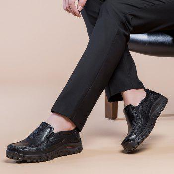 2018 New Outdoor Leather Shoes - BLACK 42
