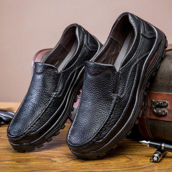 2018 New Outdoor Leather Shoes - BLACK 39