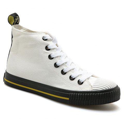 Men Casual All-Match Breathable Student Canvas Fashion Shoes - WHITE 41