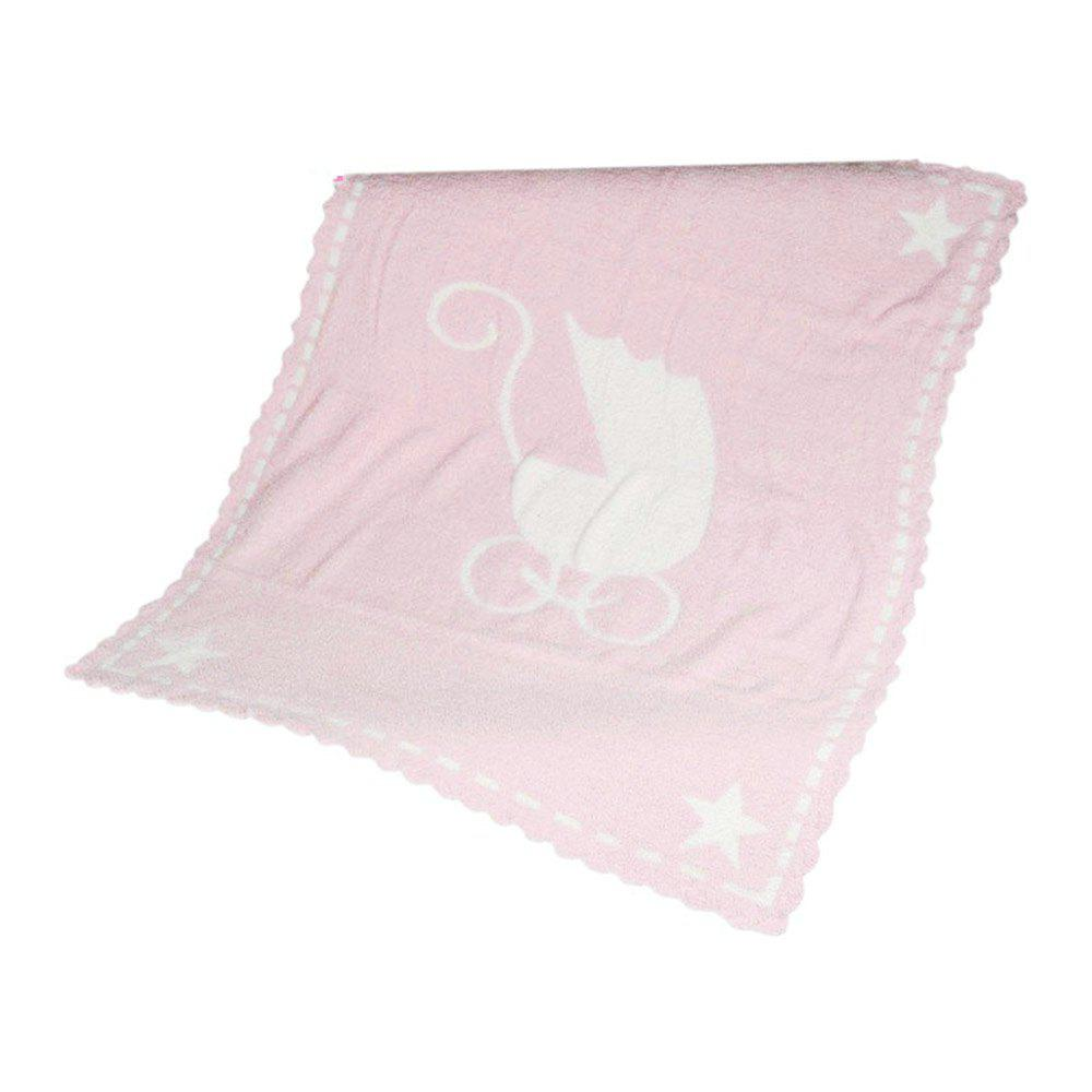 Ibaby Newborn Infant Baby Wrap Fluffy Feather Yarn Jacquard Blanket Safari Swaddling - PINK