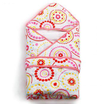 I-Baby Newborn Infant Baby Wrap Sweet Times Cotton Swaddling Printed -  RED