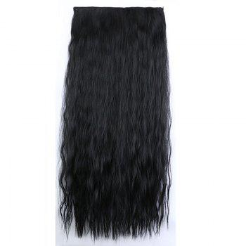 Fashion Women Long Hair Extension Wave Curls Corn Perm Wig -  NATURAL BLACK