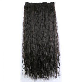 Fashion Women Long Hair Extension Wave Curls Corn Perm Wig - DEEP BROWN