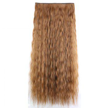Fashion Women Long Hair Extension Wave Curls Corn Perm Wig - BROWN
