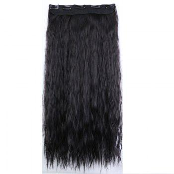 New Fashion Women Long Hair Extension Wave Curls Corn Perm Wig - NATURAL BLACK NATURAL BLACK