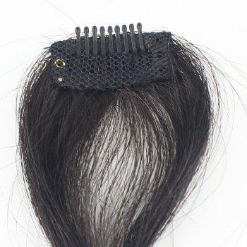 100 Percent Real Human Front Fringe Clip in Bangs Medium Brown Hair Extensions Hairpiece -  DARK BROW