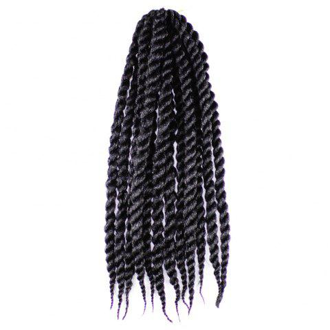One Pack 18 inch Havana Twist Crochet Hair Mambo Twist Synthetic Extension Natural Black - BLACK 18INCH
