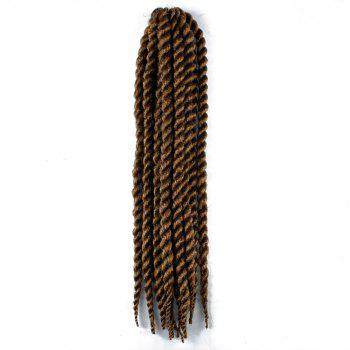 One Pack 18 inch Havana Twist Crochet Hair Mambo Twist Synthetic Extension Natural Black - BROWN BROWN
