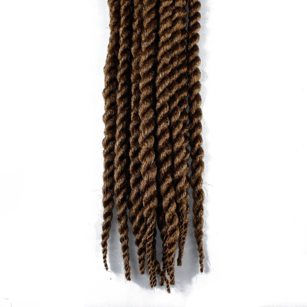 One Pack 18 inch Havana Twist Crochet Hair Mambo Twist Synthetic Extension Natural Black - BROWN 18INCH