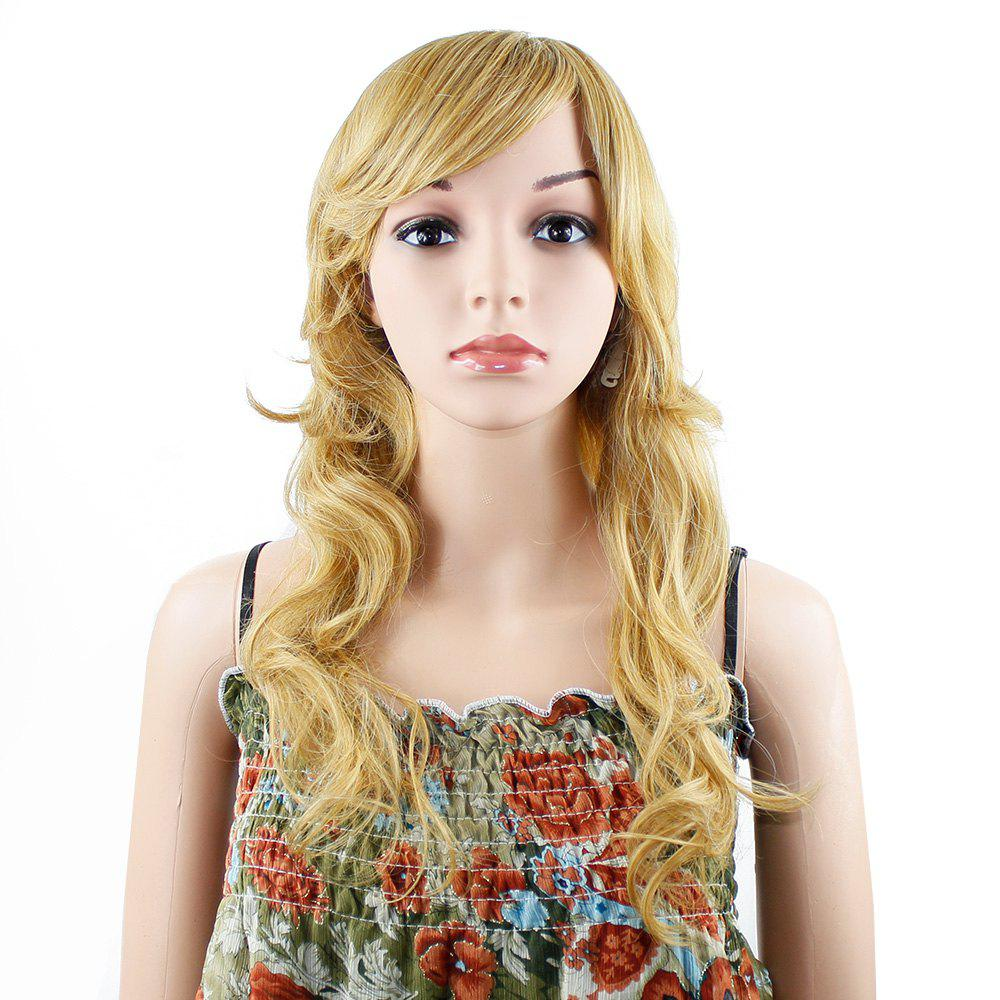 Women Synthetic Long Wavy Curly Wave Full Hair Wig for Cosplay Party Costume - GOLDEN
