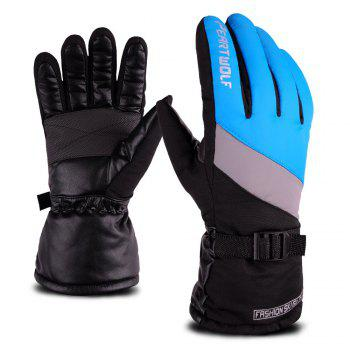 Edition Ski Against Wind and Anti-Water Winter Cycling Anti-Cold Outdoor Warm Gloves - BLUE / GREY 24X9.5X25CM