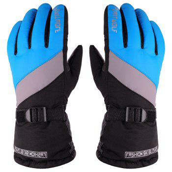 Edition Ski Against Wind and Anti-Water Winter Cycling Anti-Cold Outdoor Warm Gloves - BLUE + GREY BLUE / GREY
