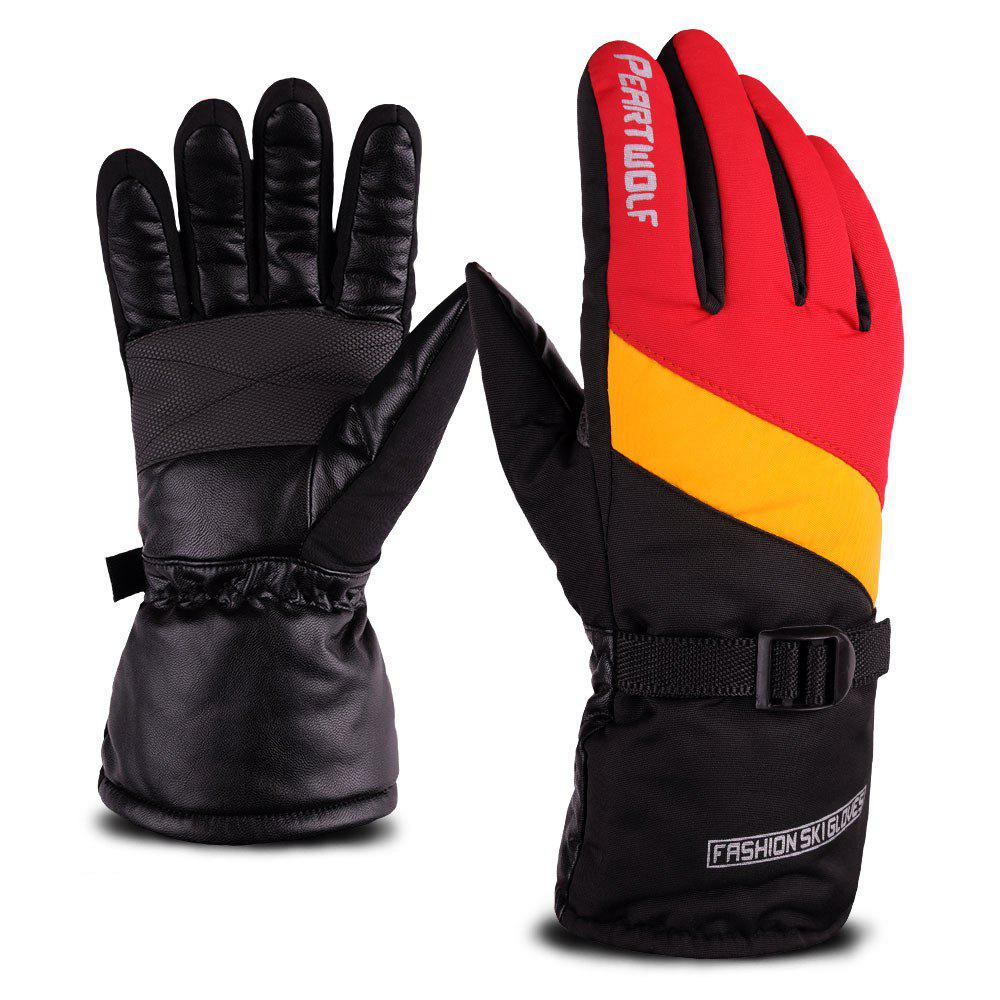 Edition Ski Against Wind and Anti-Water Winter Cycling Anti-Cold Outdoor Warm Gloves - ORANGE STRIPES 24X9.5X25CM