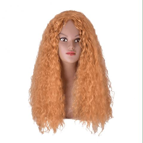 Hairyougo 0033 26 inch High Temperature Fiber Long Cosplay Wig - YELLOW 26INCH