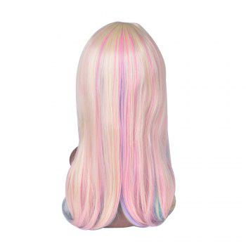 Hairyougo 7179 28 inch Long Straight Colorful Rainbow High Temperature Fiber Synthetic Wigs - COLORFUL COLORFUL
