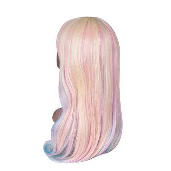 Hairyougo 7179 28 inch Long Straight Colorful Rainbow High Temperature Fiber Synthetic Wigs - COLORFUL 28INCH
