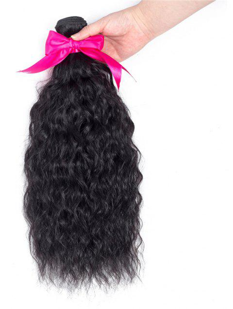 Hairyougo 8A Grade Brazilian Virgin Remy Human Hair Natural Wave Weaving 100g 1pc 8-30 inch - BLACK 8INCH