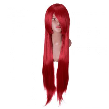 Hairyougo Long Straigh High Temperature Fiber Synthetic Cosplay  Wig 85cm 1pc - RED RED