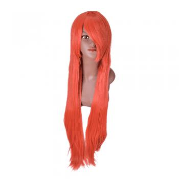 Hairyougo Long Straigh High Temperature Fiber Synthetic Cosplay  Wig 85cm 1pc - ORANGE ORANGE