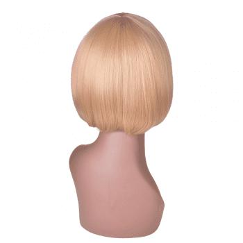 Hairyougo 6 inch Short Straight High Temperature Fiber Synthetic Bob Wig -  BLONDE