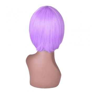 Hairyougo 6 inch Short Straight High Temperature Fiber Synthetic Bob Wig - LIGHT PURPLE