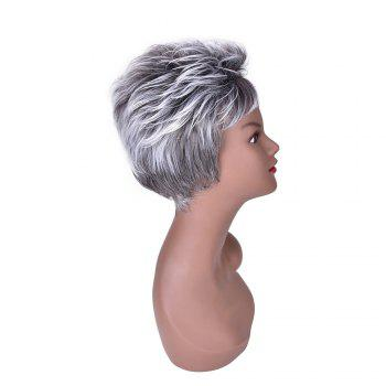 Hairyougo 2086 High Temperature Fiber Short Synthetic Cosplay Wig 6 inch -  GRAY